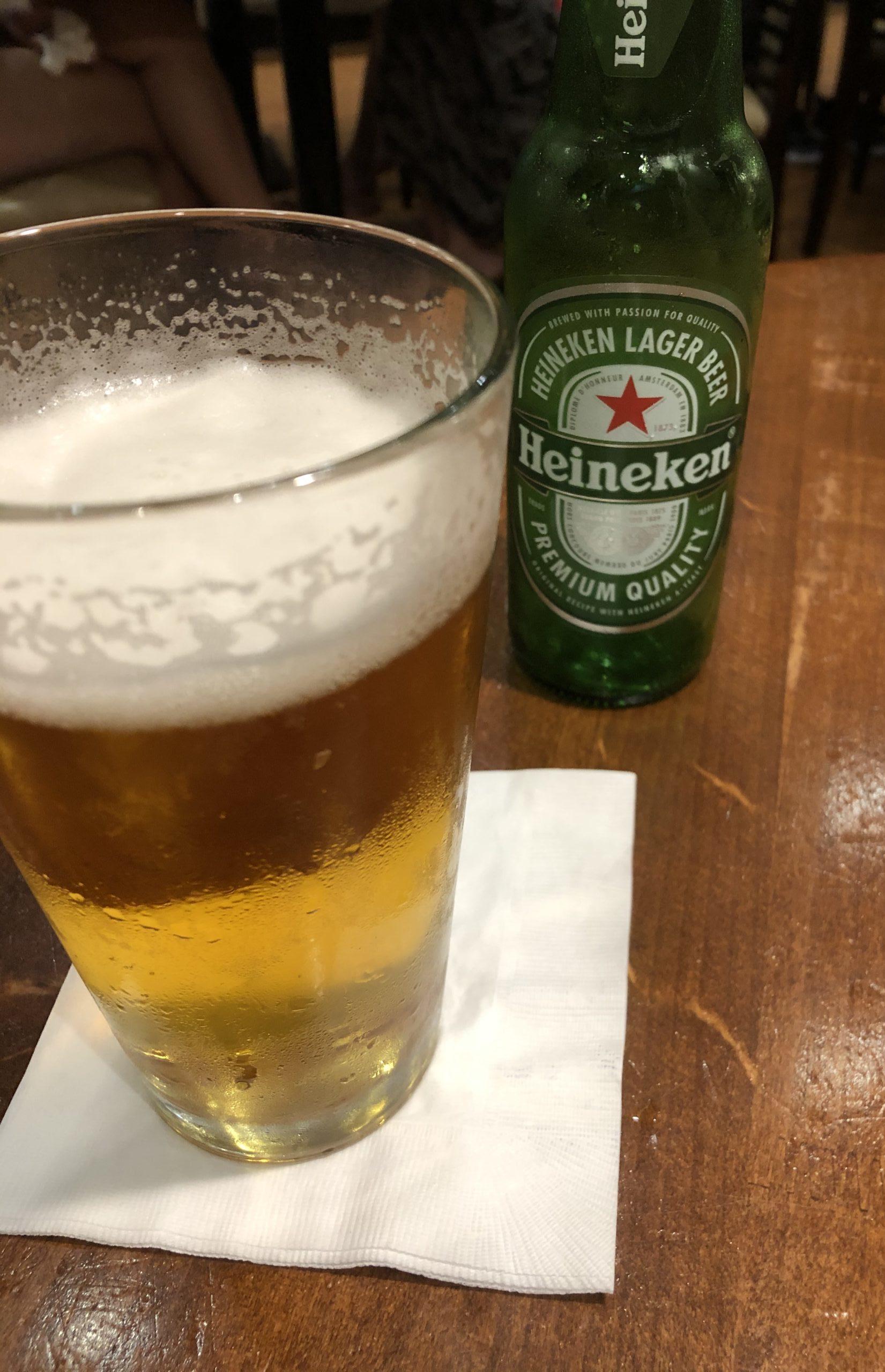 Tony Roma's ハイネケンビール