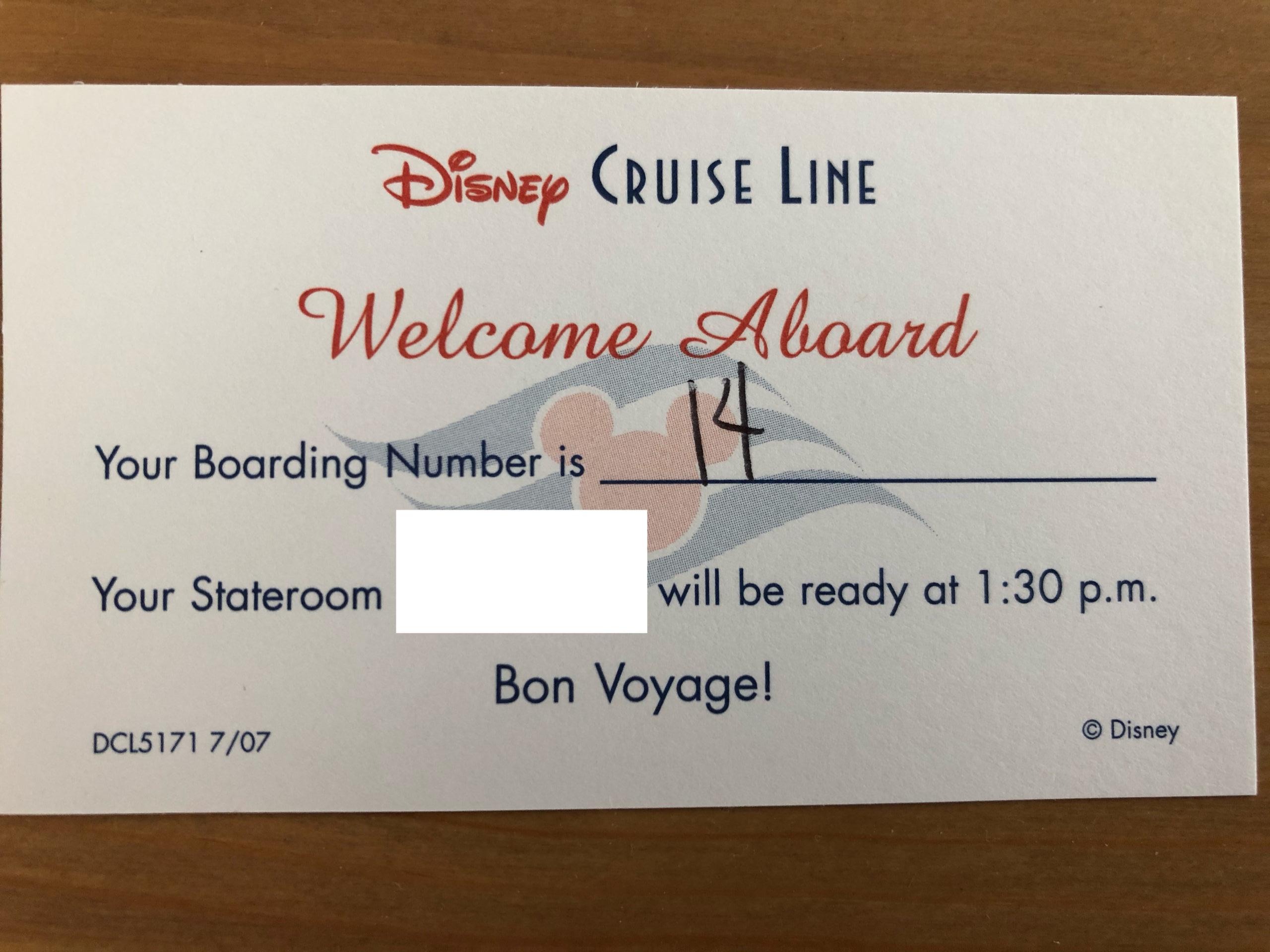 乗船順番待ちカード