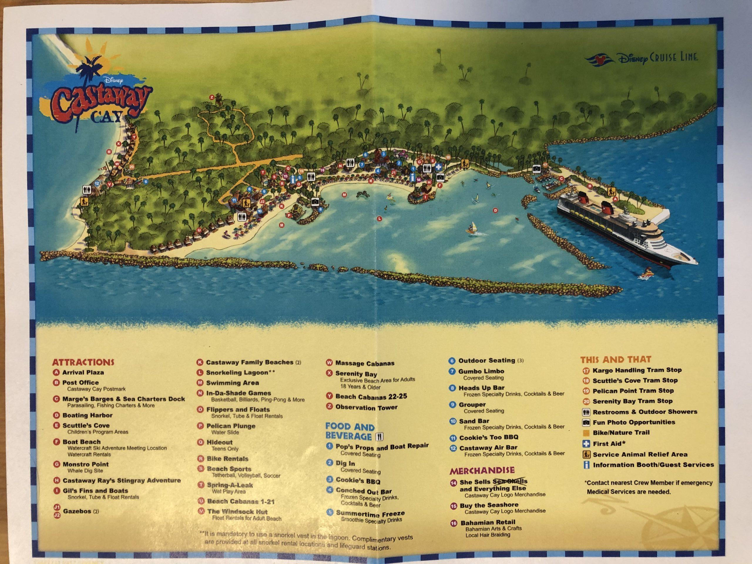 キャスタウェイ・ケイの地図