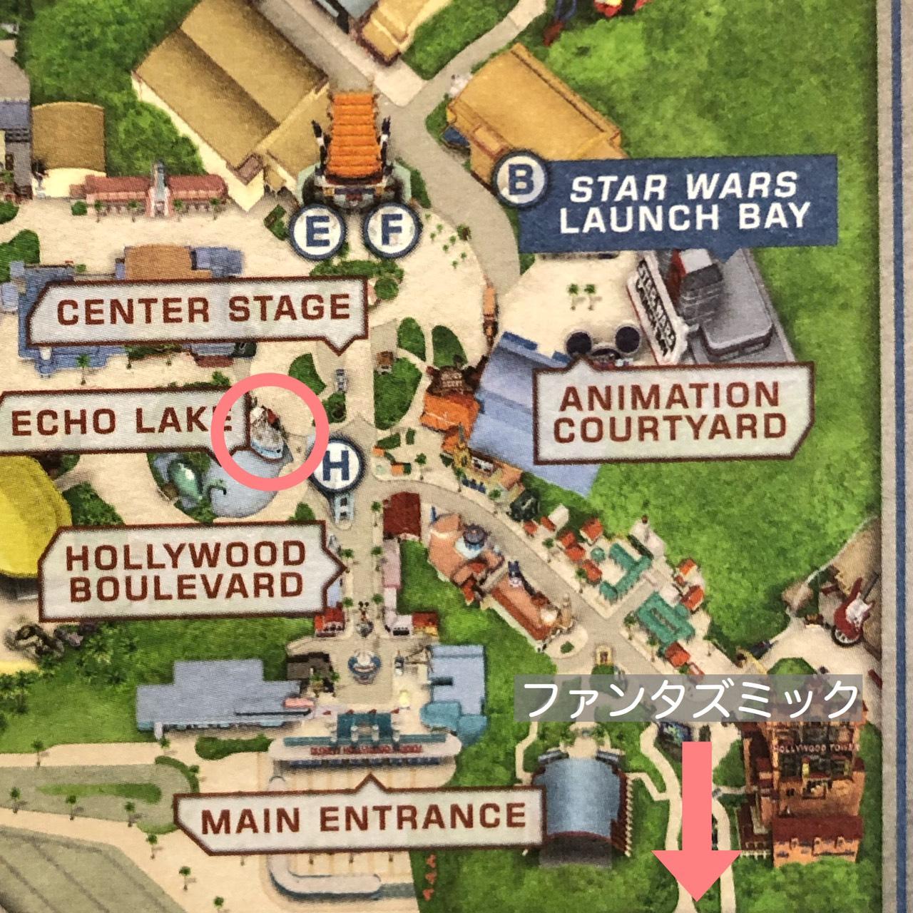 ハリウッドスタジオ地図