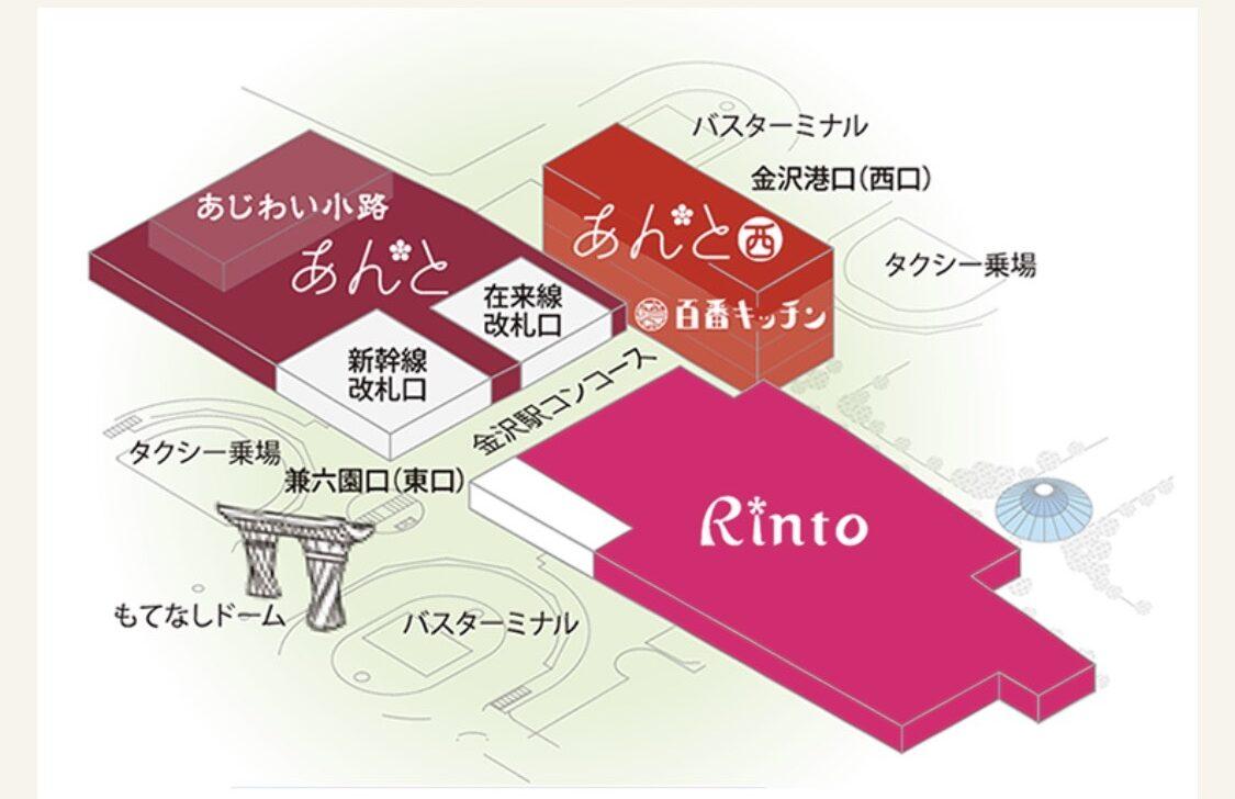 金沢駅地図